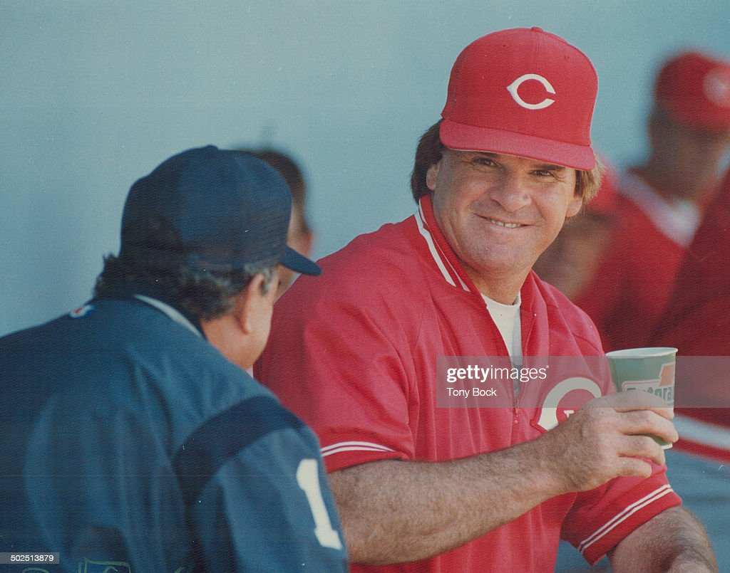 'I'm not worried': Reds manager Pete Rose can still smile and says he's under no pressure despite hy : News Photo