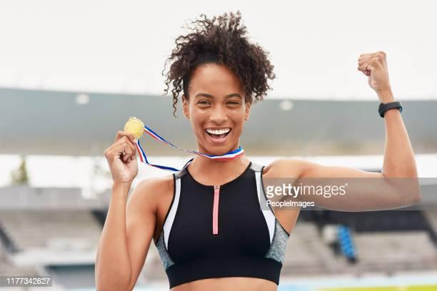 私はナンバーワンだ - オリンピック選手 ストックフォトと画像