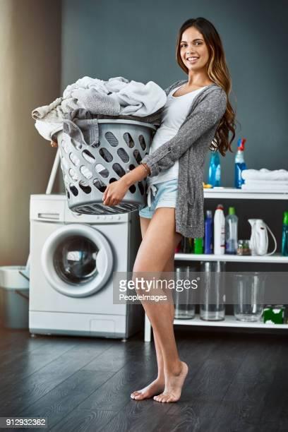 I'm on laundry duty today