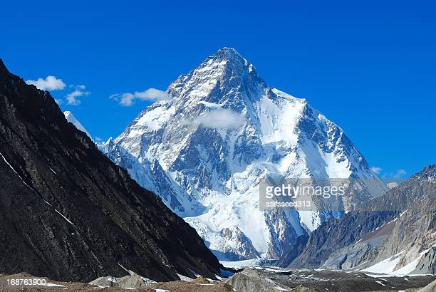 k2 8611 m - k2 mountain stock pictures, royalty-free photos & images