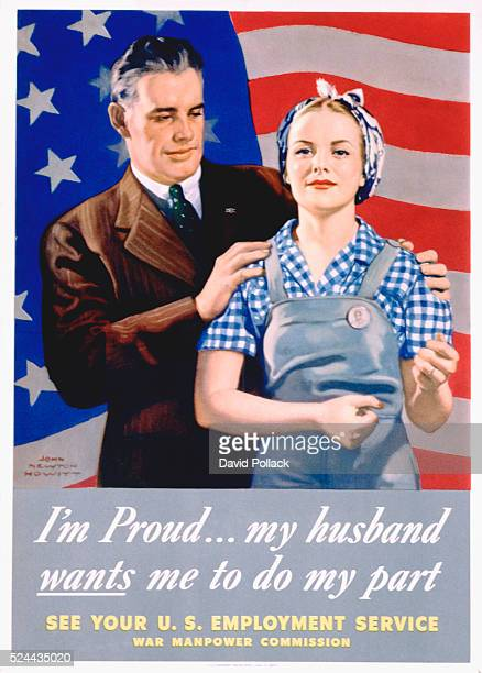 I'm ProudMy Husband Wants Me To Do My Part World War II Poster by John Newton Hewitt