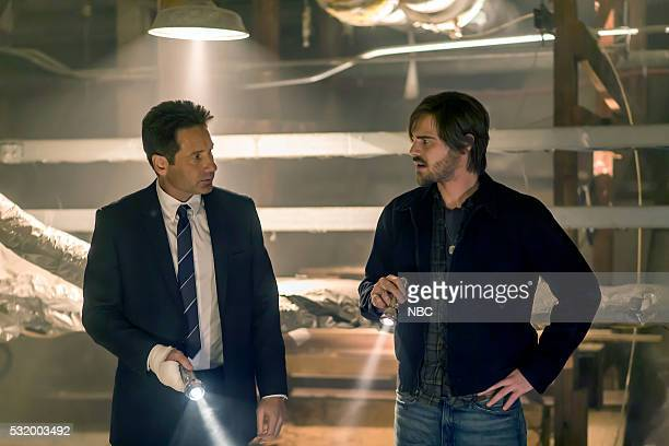 AQUARIUS 'I'm So Tired' Episode 201 Pictured David Duchovny as Sam Hodiak Grey Damon as Brian Shafe