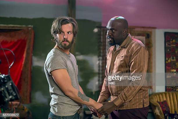 AQUARIUS I'm So Tired Episode 201 Pictured Gethin Anthony as Charles Manson Omar J Dorsey as Ralph Church
