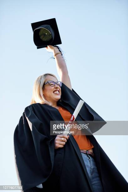 i'm super proud of my achievement! - alumni stock pictures, royalty-free photos & images