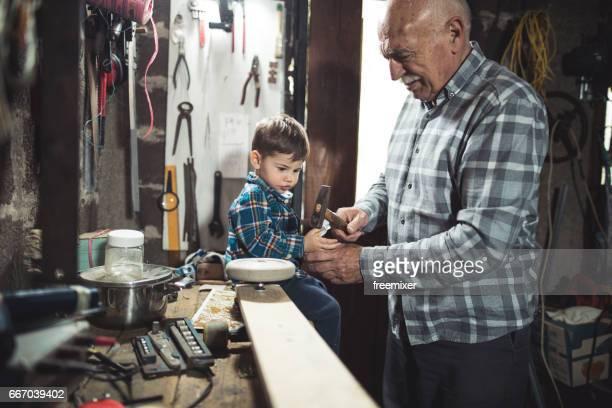 I'm the assitsant of my grandpa