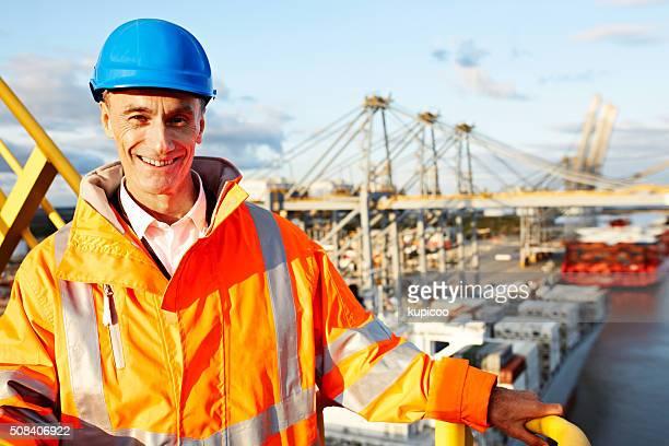 Ich bin der Vorarbeiter auf das Dock