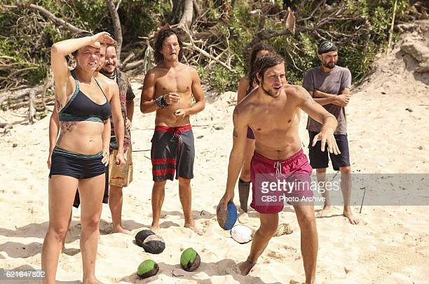 'I'm the Kingpin' Jessica Lewis Ezekiel/Zeke Smith Justin Starrett Taylor Stocker and David Wright relax on the eighth episode of SURVIVOR...