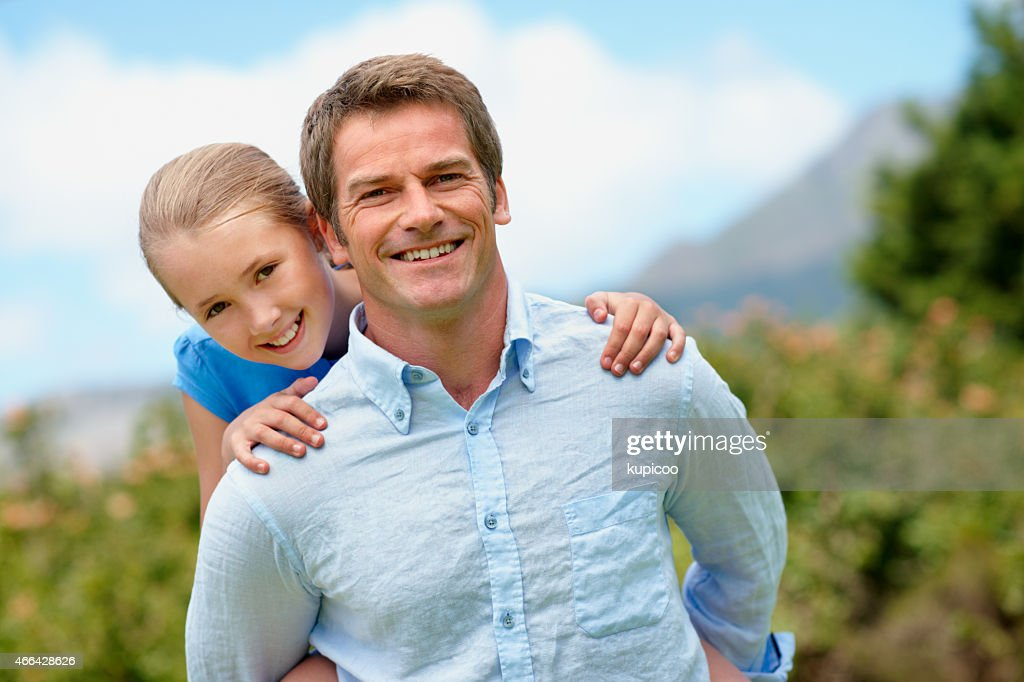 I'm the luckiest dad ever : Stock Photo