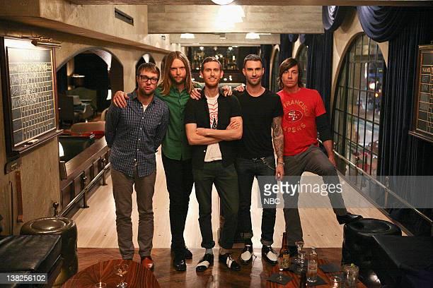MASTERS 'I'm With the Band' Episode 306 Pictured Guest judges Maroon 5 Michael Madden James Valentine Jesse Carmichael Adam Levine Matt Flynn
