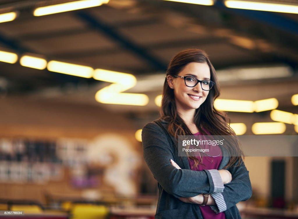 Sou jovem e pronto para o sucesso : Foto de stock