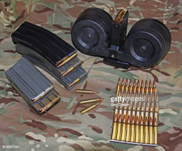 m16/ar15 magazines - ammunition magazine stock photos and pictures
