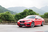BMW M235i Engine on May 15 2014 in Hong Kong.