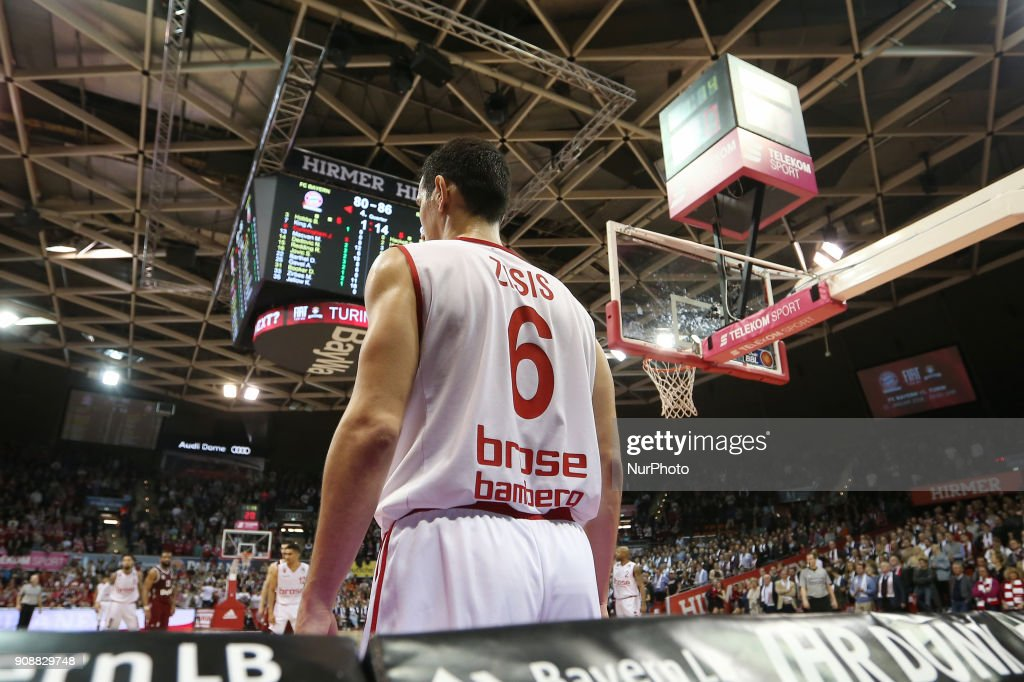 #m6# during the Quarterfinal match in the BBL Pokal 2017/18 between FC Bayern Basketball and Brose Baskets Bamberg at the Audi Dome on January 21,2018.