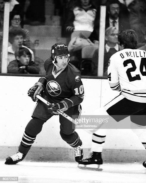 Craig Ramsay of the Buffalo Sabres skates in game against the Boston Bruins at Boston Garden.