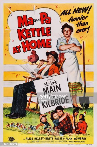 Ma And Pa Kettle At Home poster US poster art top from left Percy Kilbride Marjorie Main 1954