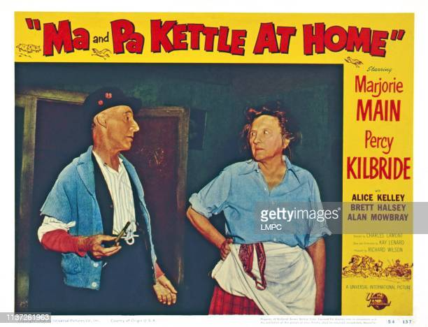 Ma And Pa Kettle At Home US lobbycard from left Percy Kilbride Marjorie Main 1954
