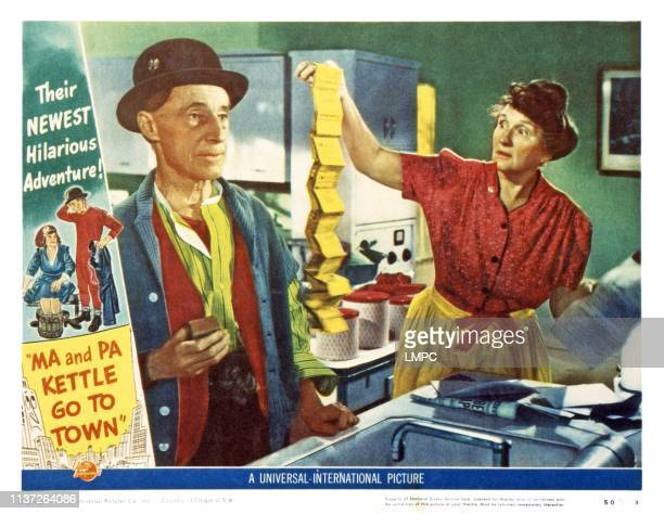 Ma And Pa Kettle Go To Town US lobbycard from left Percy Kilbride Marjorie Main 1950