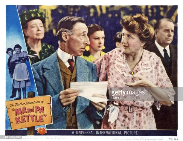 Ma And Pa Kettle US lobbycard from left Percy Kilbride Marjorie Main 1949