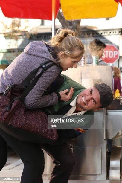 POWERLESS 'I'ma Friend You' Episode 108 Pictured Christina Kirk as Jackie Michael Cornacchia as Hot Dog Tony