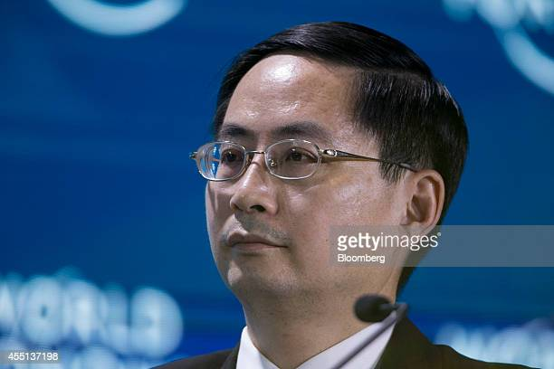 Ma Jun chief economist at the research bureau of the People's Bank of China attends a session at the World Economic Forum Annual Meeting of the New...