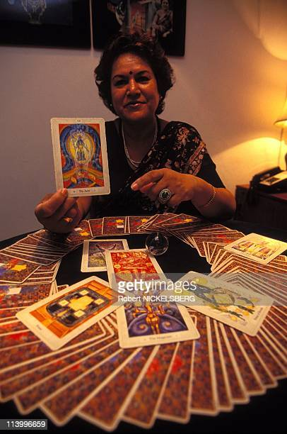 Ma Prem Usha Tarot Card Reader In New Delhi India On September 27 1995