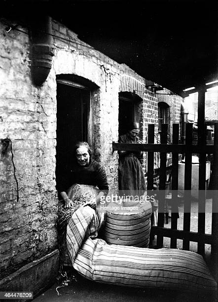 Ma Rolinson of Bethnal Green making mattresses c1890c1907
