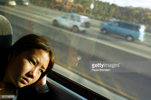 Ma Vang age 14 ponders her new life in America as the bus heads towards their final destination Fresno California away from Los Angeles International...