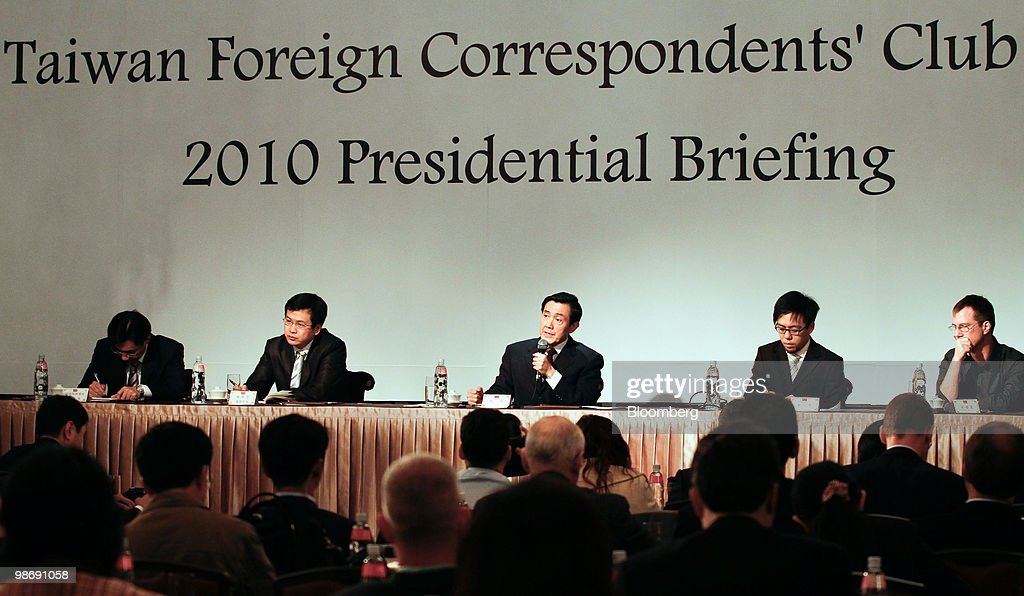 Ma Ying Jeou Taiwans President Speaks At The Taiwan Fcc Photos