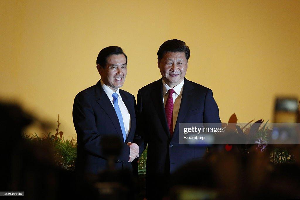 China's President Xi Jinping To Meet Taiwan's President Ma Ying-Jeou : News Photo