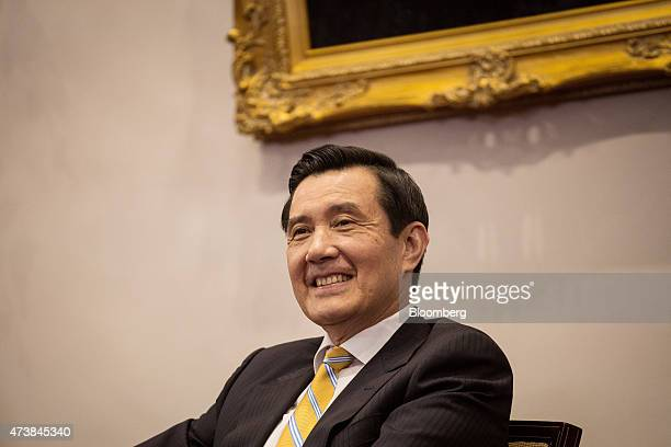 Ma Ying-jeou, Taiwan's president, reacts during a news conference at the presidential palace in Taipei, Taiwan, on Monday, May 18, 2015. New rules...
