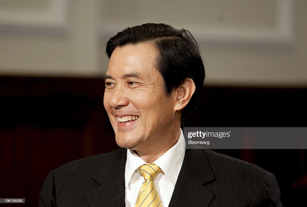 Portrait Of Taiwan President Ma Ying-Jeou