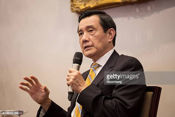 Ma Ying-jeou, Taiwan's president, speaks during a news conference at the presidential palace in Taipei, Taiwan, on Monday, May 18, 2015. New rules...