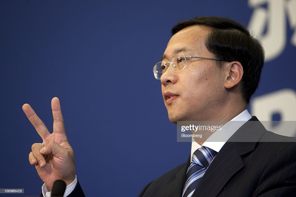 Ma Zhaoxu, spokesman for the Chinese foreign ministry, speaks during a news conference at the U.S.-China Strategic & Economic Dialogue in Beijing, China, on Monday, May 24, 2010. China urged all parties to remain 'coolheaded' over the sinking of a South Korean warship, which has been blamed on North Korea. Photographer: Nelson Ching/Bloomberg via Getty Images