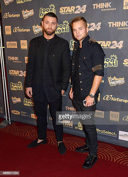 Ma2x and a guest attend the '35th Nuit des Publivores' at Grand Rex September 17 2015 in Paris France
