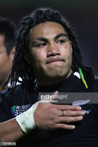 Ma'a Nonu of the All Blacks looks on after the IRB 2011 Rugby World Cup Pool A match between New Zealand and Japan at Waikato Stadium on September...