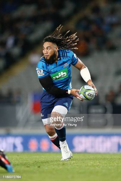 Ma'a Nonu of the Blues in action during the round 14 Super Rugby match between the Blues and the Chiefs at Eden Park on May 18 2019 in Auckland New...