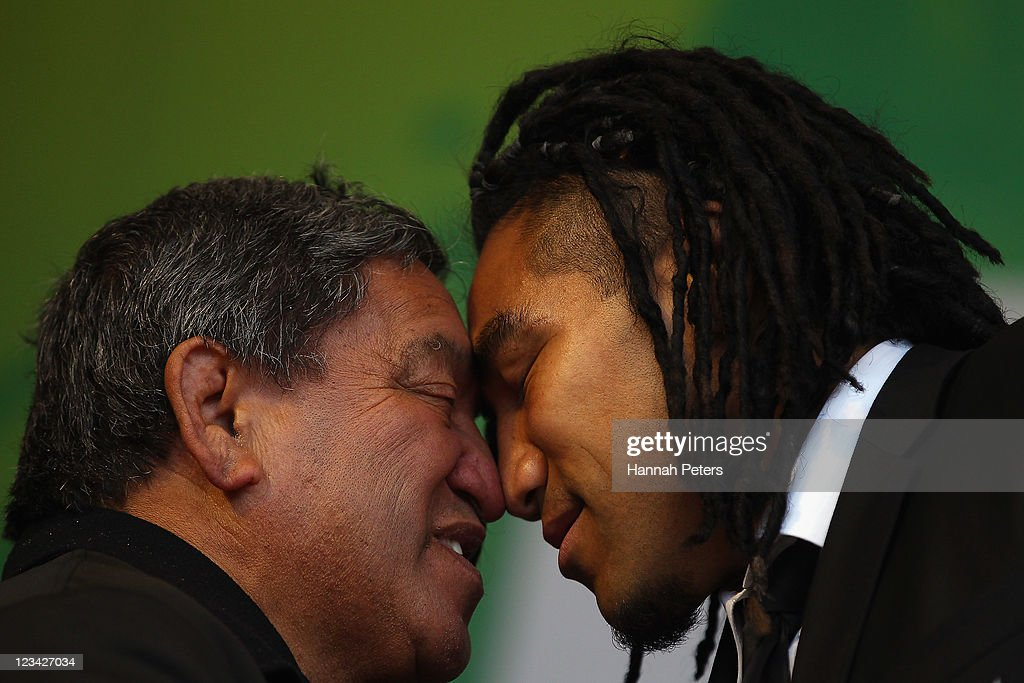 New Zealand IRB RWC 2011 Official Welcome Ceremony : News Photo