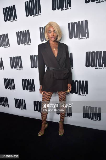 Maad attends UOMA Beauty Launch Event at NeueHouse Hollywood on April 25 2019 in Los Angeles California