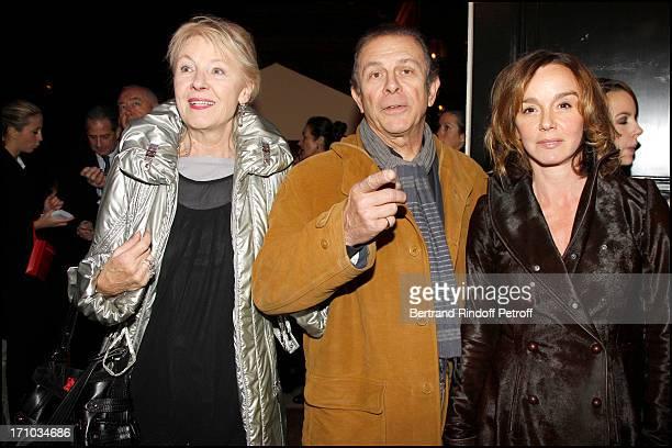 Maaike Jansen and her husband Roland Giraud Philippine Leroy Beaulieu at Bal De La Truffe Organised By Lancel At Hotel Salomon De Rothschild In Paris