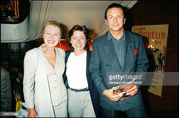 Maaike Jansen Roland Giraud and their daughter Geraldine at Les Cotelettes Theatre Production In Paris 1997