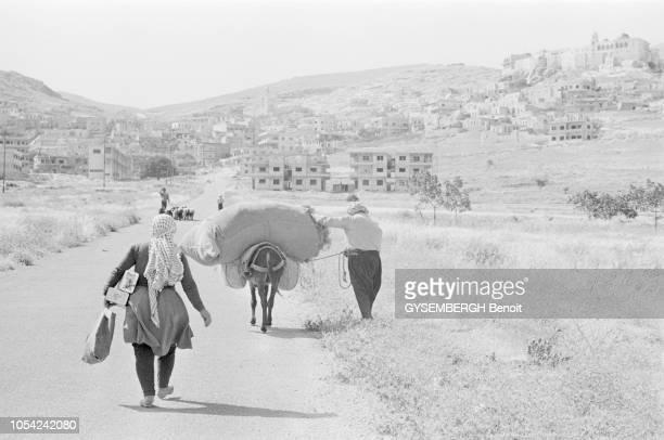 Maaloula Syrie circa 1977 La vie à Maaloula village montagneux à majorité chrétienne situé dans le Djebel Qalamoun Les chrétiens locaux appartiennent...