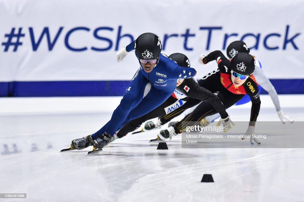 ISU World Junior Short Track Speed Skating Championships Montreal : News Photo