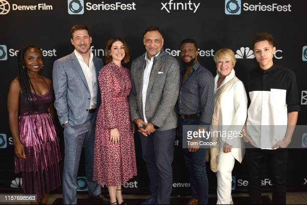 MaameYaa Boafo Barry Sloane Caitlin McGee Jimmy Smits Michael Luwoye Jayne Atkinson and Stony Blyden of NBC's Bluff City Law at Seriesfest Season 5...