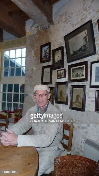 Maarten Dolman one of the last Dutch millers poses for a photograph in Ijsselstein in the province of Utrecht The Netherlands on December 14 2017 /...
