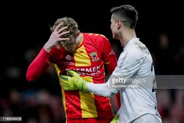 Maarten Pouwels of Go Ahead Eagles, Joshua Smits of Almere City FC during the Dutch Keuken Kampioen Divisie match between Go Ahead Eagles v Almere...