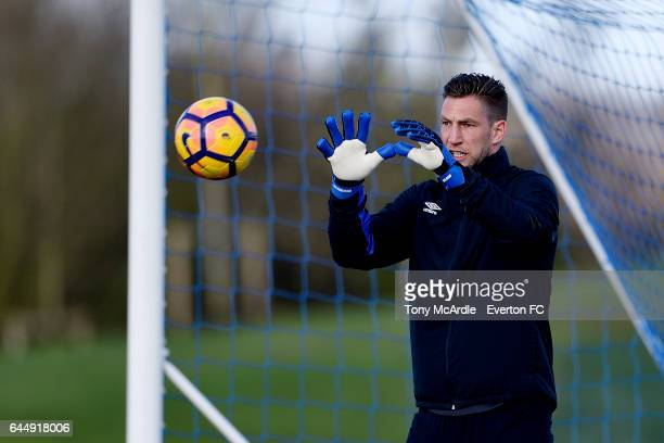 Maarten Stekelenburg during the Everton FC training session at USM Finch Farm on February 24 2017 in Halewood England