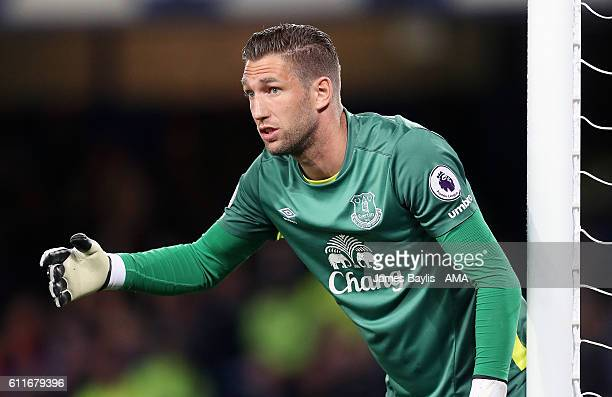 Maarten Stekelenburg of Everton during the Premier League match between Everton and Crystal Palace at Goodison Park on September 30 2016 in Liverpool...