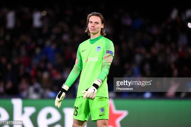 Maarten Vandevoordt goalkeeper of Genk during the UEFA Champions League Group stage Group E match between SSC Napoli and KRC Genk on December 10 2019...
