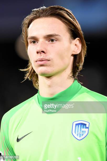 Maarten Vandevoordt of KRC Genk during the UEFA Champions League match between SSC Napoli and KRC Genk at Stadio San Paolo Naples Italy on 10...