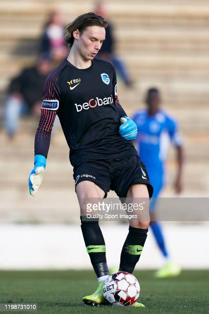 Maarten Vandevoordt of KRC Genk in action during a friendly match between 1 FC Koeln and KRC Genk on January 10 2020 in La Nucia Spain